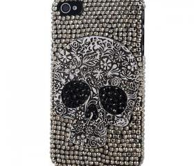 New Cool Fashion Skull Design Crystal Rhinestones iPhone 5S Back Cover, Diamond Bling Cover Shell Hard Back Case iPhone 5, Pink Bowknot iPhone 5 Cover Case, Crystal iPhone 5 Back Cover, Flower iPhone 5S Cover Case